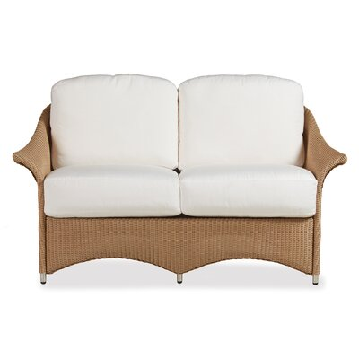 Generations Loveseat with Cushions Finish: Premium Sea Glass