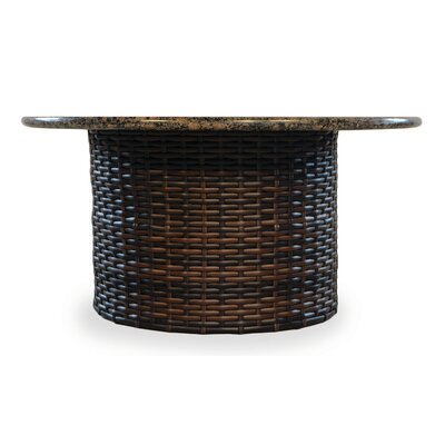 Contempo Dining Table with Firepit Finish: Venetian Gold Stone