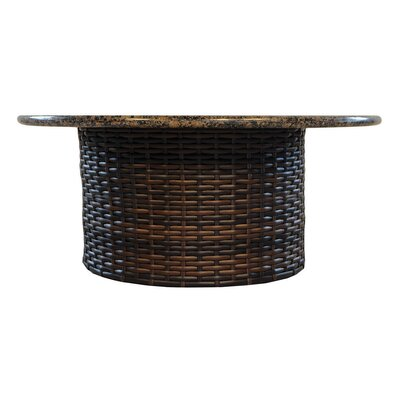 Stylish Wicker Rattan Chat Table Product Photo