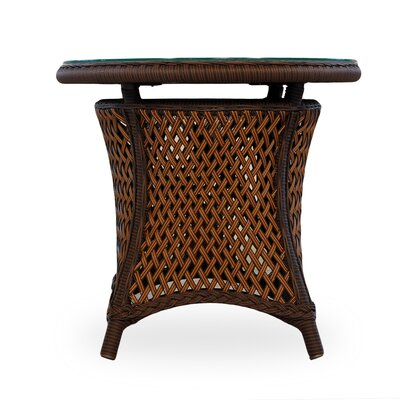 Grand Traverse Wicker Rattan Side Table 62 Product Image