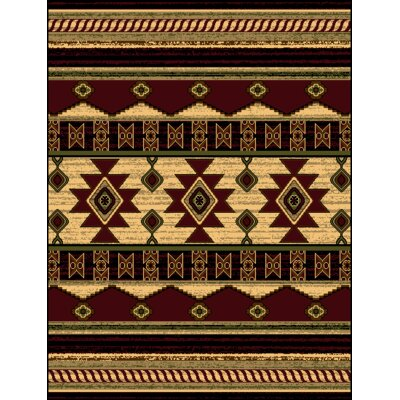 Triplicate Burgundy/Red Area Rug Rug Size: 5' x 7'