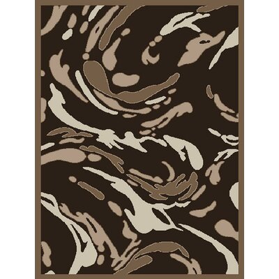 Rue Splatter Brown Area Rug Rug Size: 5 x 7