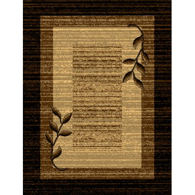 Beeline Fall Black/Brown/Beige Area Rug Rug Size: 3' x 5'