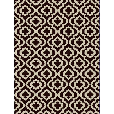 Mirror Rehash Brown Area Rug Rug Size: 5 x 7