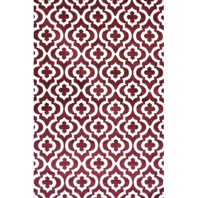 Mirror Rehash Red Area Rug Rug Size: 5 x 7