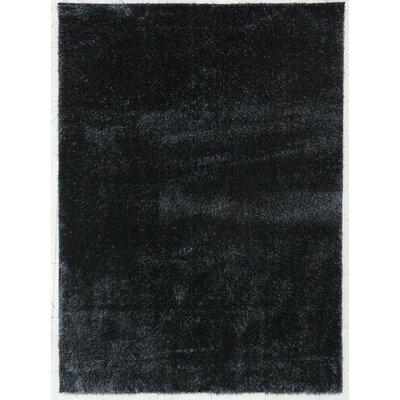 Shaggy Black Area Rug