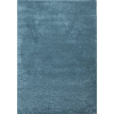 Super Shaggy Sage Blue Area Rug Rug Size: 8 x 11