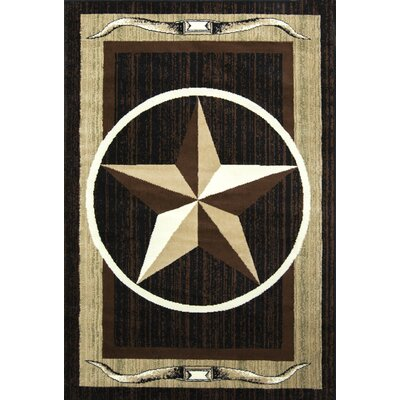 Star Brown/Beige Area Rug Rug Size: Rectangle 5' x 7'