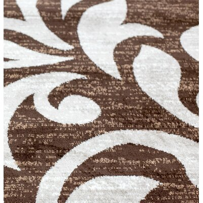 Knoxville Brown Area Rug Rug Size: Rectangle 4 x 5