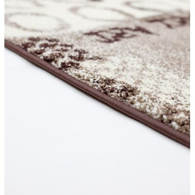 Architectural Brown/Beige Area Rug Rug Size: 8 x 10