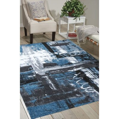 Illusional Pond Blue/Gray Area Rug Rug Size: 5 x 75