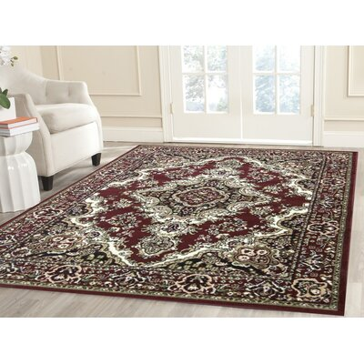 Oriental Classic Red/Black Area Rug Rug Size: Rectangle 3 x 5