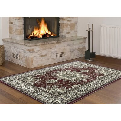 Steuben Red/Brown Area Rug Rug Size: 5 x 7