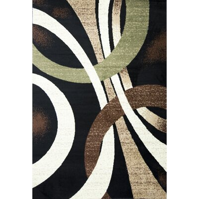 Lopped Black/Beige Area Rug