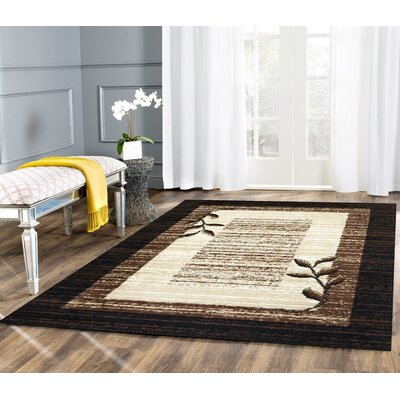 Wilda Black/Brown/Beige Area Rug Rug Size: 8 x 10