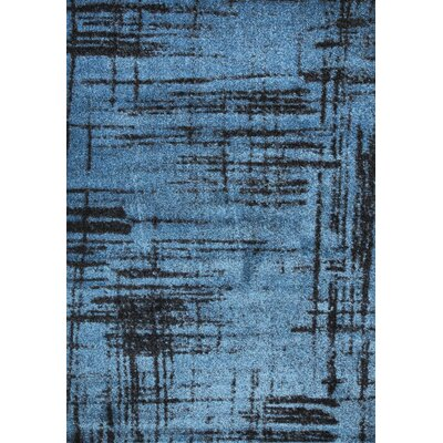 Graze Plain Blue/Gray/Black Area Rug Rug Size: 8 x 10