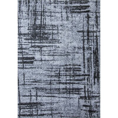 Graze Plain Gray/Black Area Rug Rug Size: 8 x 10