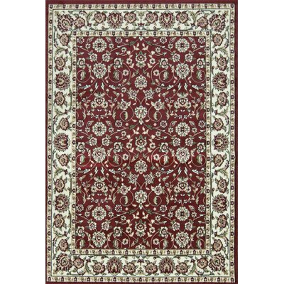 Sun Ray Outline Red Area Rug Rug Size: Rectangle 8' x 10'