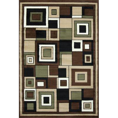 Karyn Geometric Brown/Beige Area Rug Rug Size: 5 x 7