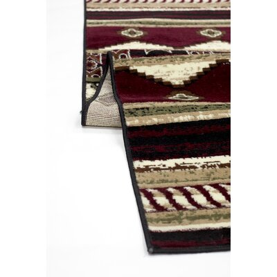 Triplicate Burgundy/Red Area Rug Rug Size: 18 x 27