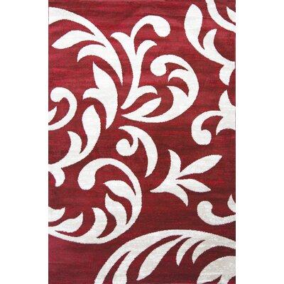 Nader Red Area Rug Rug Size: 5 x 7