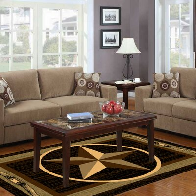 Star Brown/Beige Area Rug Rug Size: 18 x 27