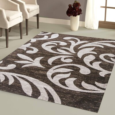 Juliet Brown Area Rug Rug Size: 5 x 7