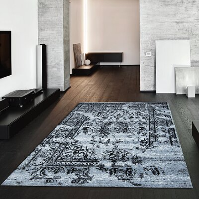 Jaime Gray/Black Area Rug