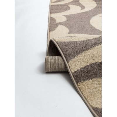 Knoxville Taupe/Cream Area Rug Rug Size: 2 x 3