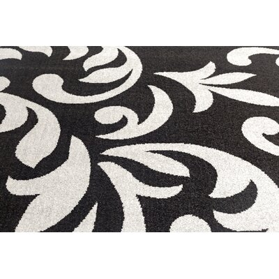 Knoxville Black/Gray Area Rug Rug Size: 4 x 5