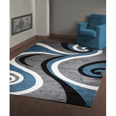Mckenzie Blue/Gray Area Rug Rug Size: 8 x 10