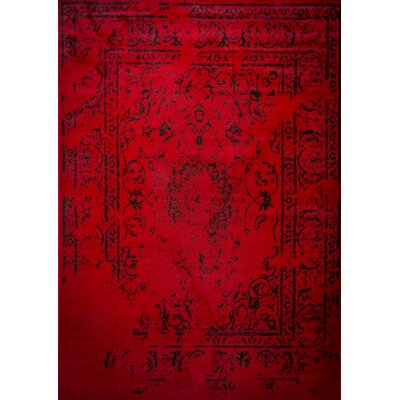 Jaime Red Area Rug Rug Size: 4 x 5