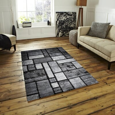 Apodaca Dusty Brick Gray Area Rug Rug Size: 2 x 3