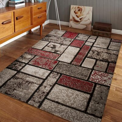 Nadene Dusty Brick Red/Brown Area Rug Rug Size: 4 x 5