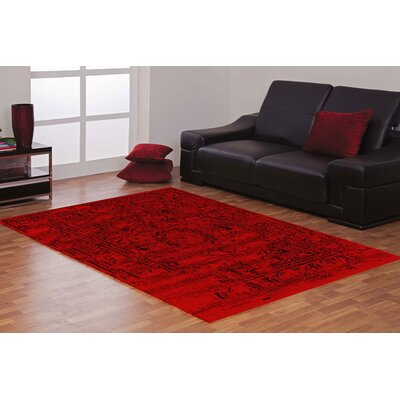 Jaime Red Area Rug Rug Size: Rectangle 5 x 7