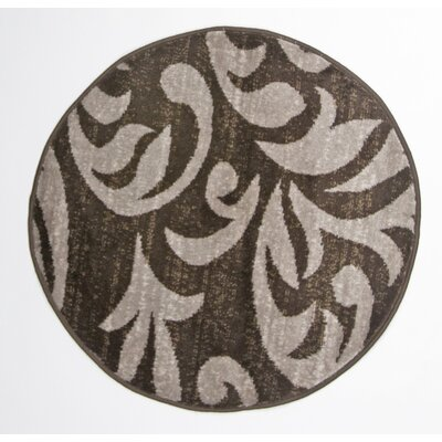 Nader Round Brown Indoor Area Rug