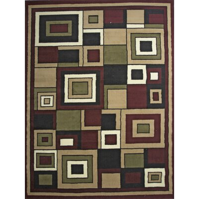 Karyn Red Indoor Area Rug Rug Size: 5 x 7