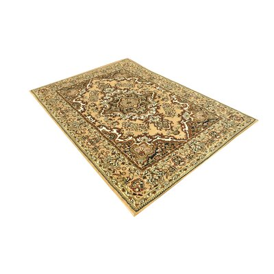 Oriental Classic Beige Area Rug Rug Size: Rectangle 5 x 7