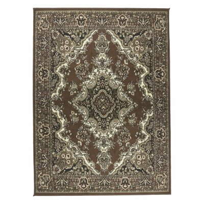 Oriental Classic Brown/Beige Area Rug Rug Size: Rectangle 8 x 10