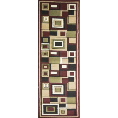 Plaza Red Area Rug Rug Size: Runner 3 x 8