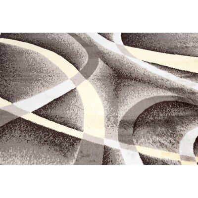 Aquilar Gray/Yellow Area Rug Rug Size: Runner 3 x 8