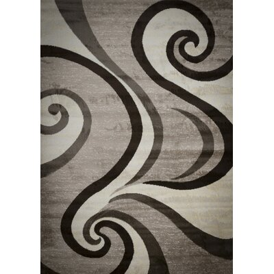 Blacksmith Swish Beige/Gray Area Rug Rug Size: 2 x 3
