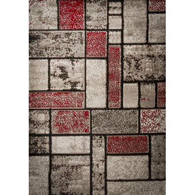Apodaca Dusty Brick Red/Brown Area Rug Rug Size: Runner 3 x 8