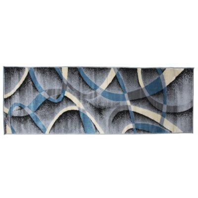 Aquilar Gray/Blue Area Rug Rug Size: Runner 3 x 8