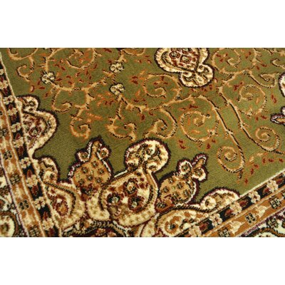 Ritual Green/Brown Area Rug Rug Size: Rectangle 5 x 7