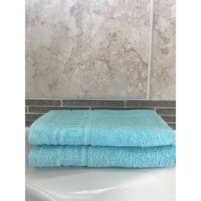 Lewis Cotton Hand Towel Color: Turquoise, Set Of: Set of 2