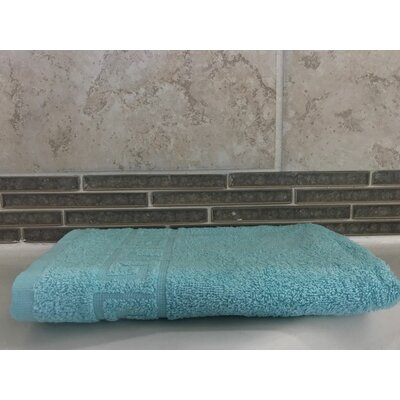 Solid Hand Towel color: Turquoise