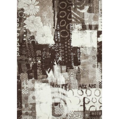 Architectural Brown/Beige Area Rug Rug Size: 5 x 75