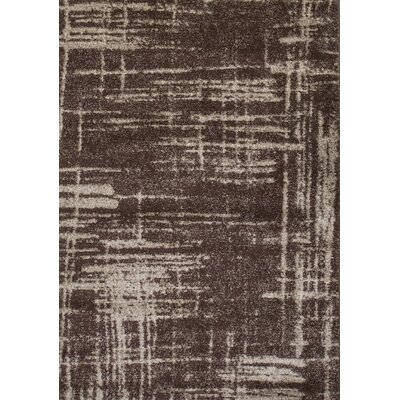 Graze Plain Brown/Beige Area Rug Rug Size: 5 x 75
