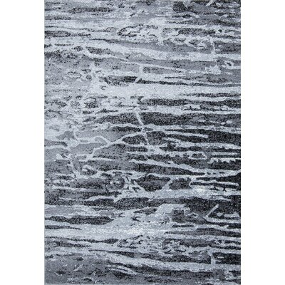 Marble Gray/Black Area Rug